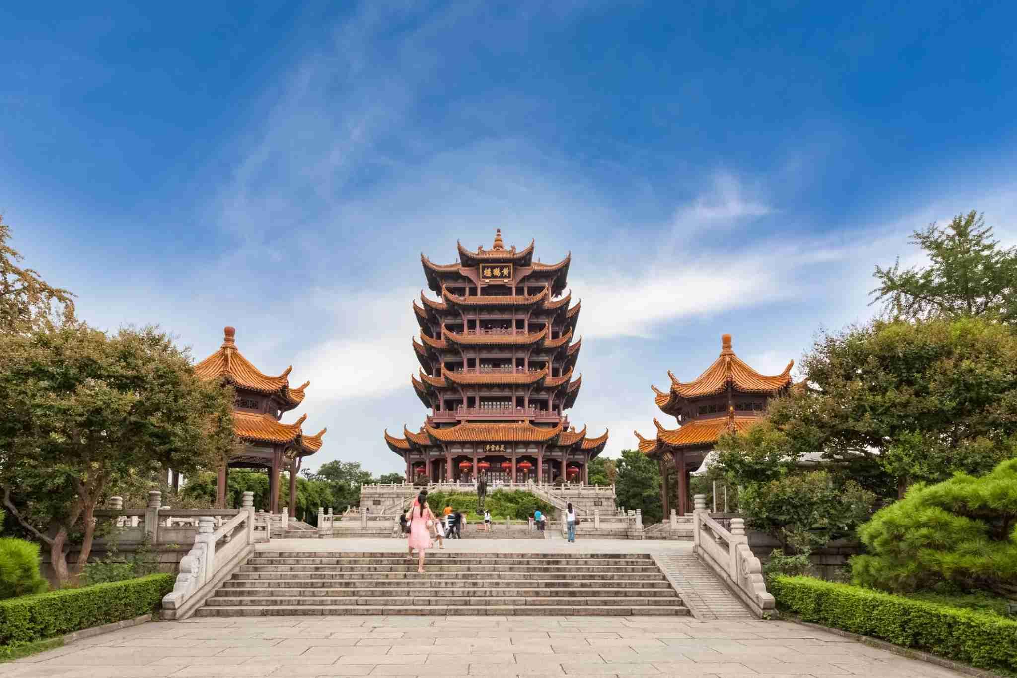 Yellow Crane Tower in Wuhan, China. (Photo by silkwayrain)