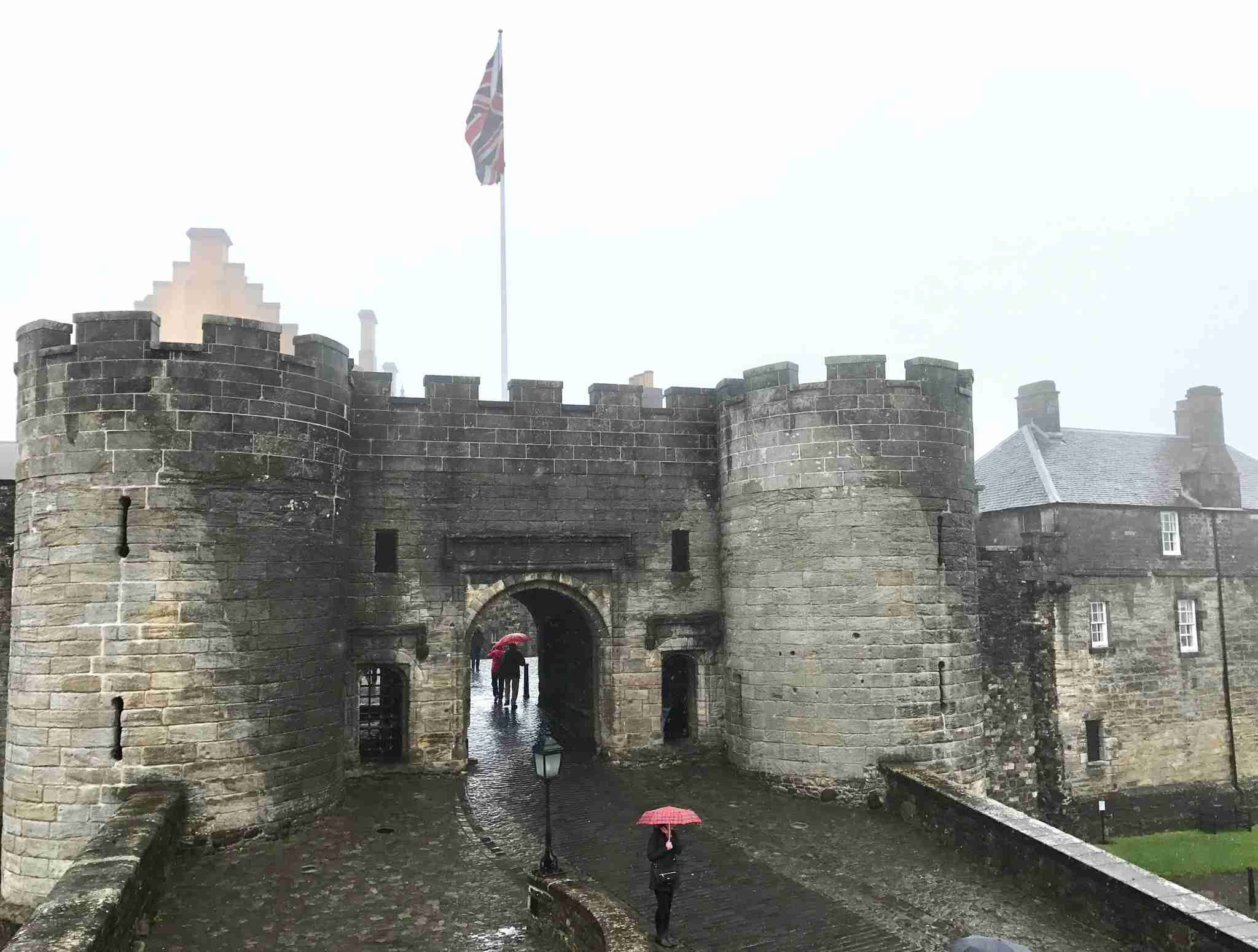 Shrouded in morning fog, Stirling Castle is a throw-back to medieval times.