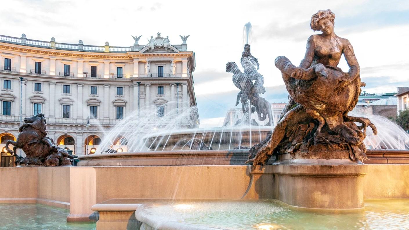 The Piazza della Repubblica. (Photo by John Seaton Callahan / Getty Images)