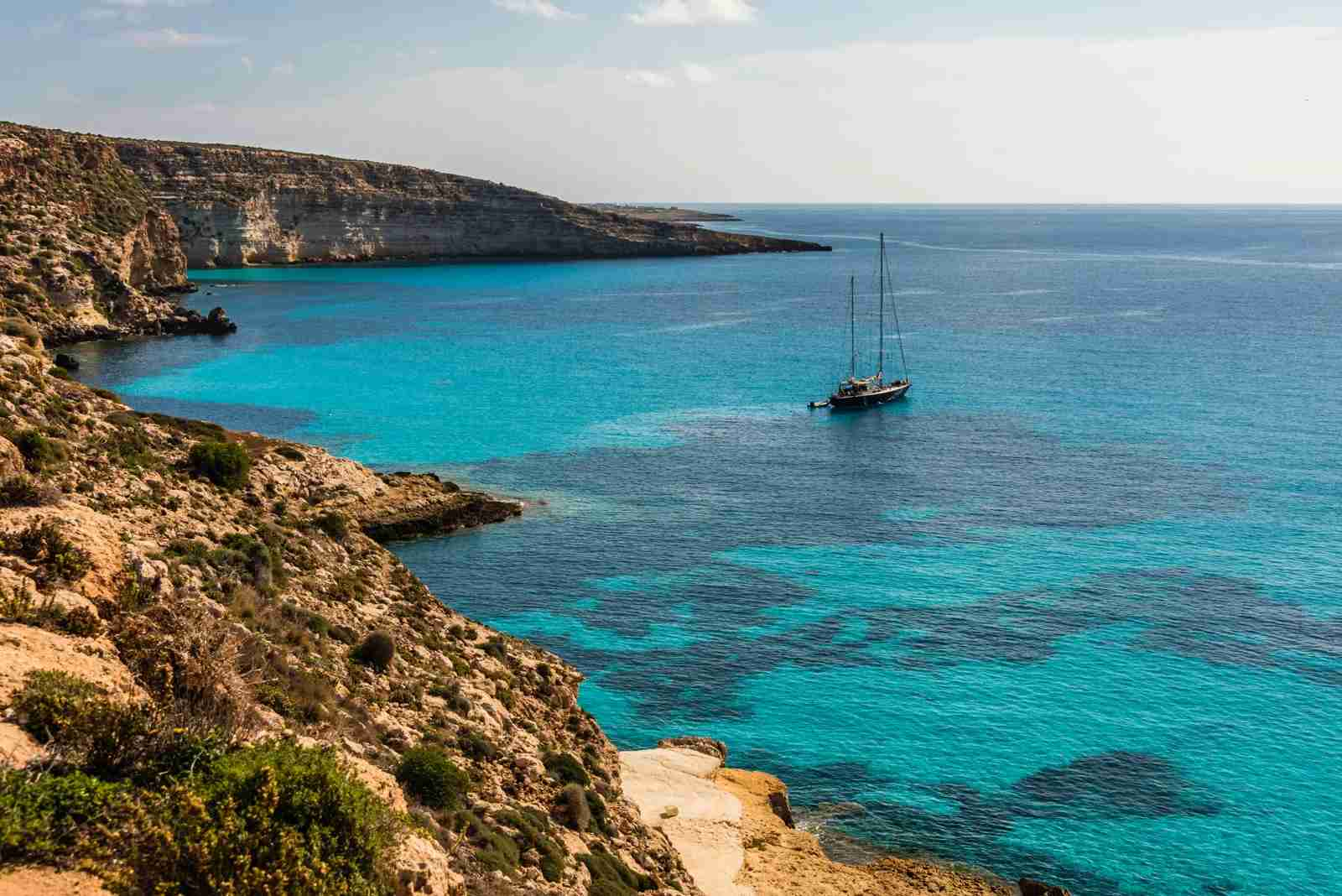 Rabbit Beach in Lampedusa, Pelagie Islands. (Photo by Vansky / Shutterstock)