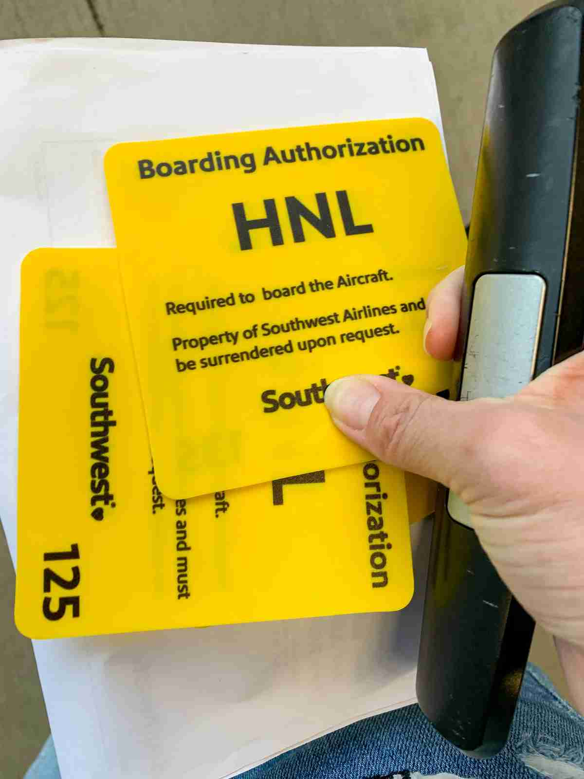 Color coded boarding cards (Photo by Summer Hull / The Points Guy)