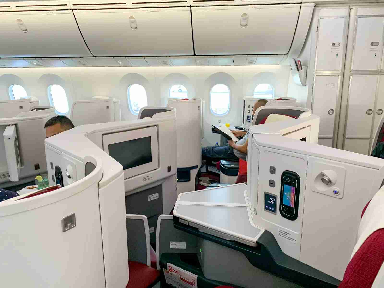 Hainan business class (Photo by Javier Rodriguez / The Points Guy)