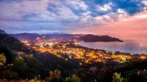 Playas del Coco, Guanacaste, Costa Rica at night