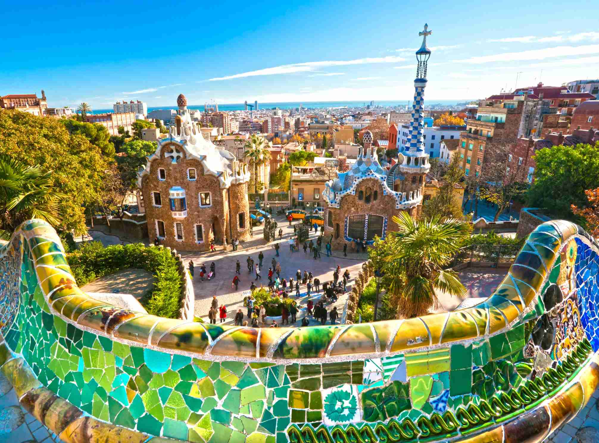 Park Guell in Barcelona, Spain. (Photo by MasterLu/Getty Images)