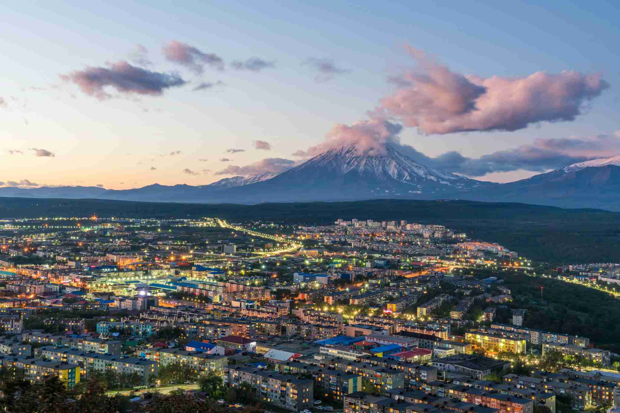 The Petropavlovsk-Kamchatsky skyline. (Image by www.tonnaja.com/Getty Images)