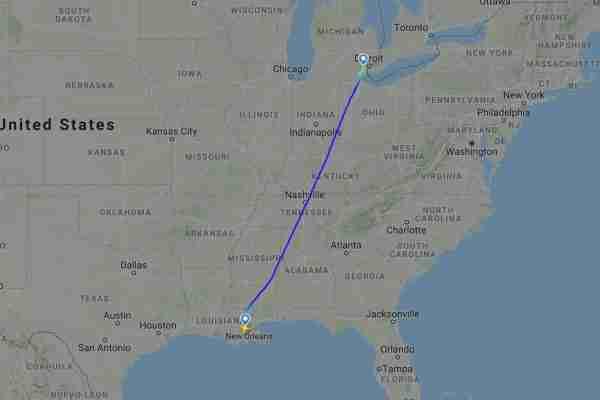 Spirit Airlines Flight NK 985 on June 4th (Image via Flightradar24)