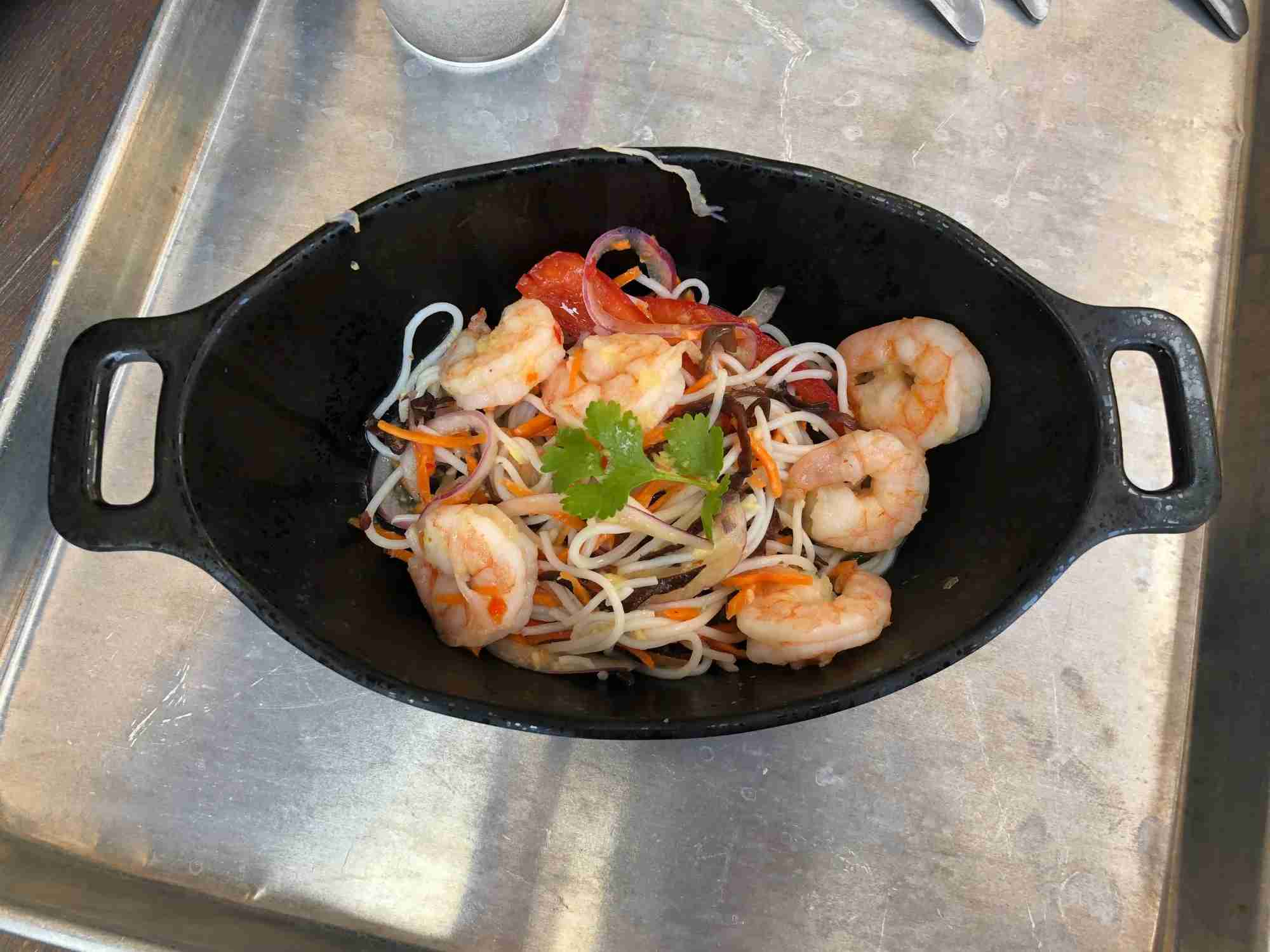 Would your kids eat chilled shrimp with noodles? Ours wouldn