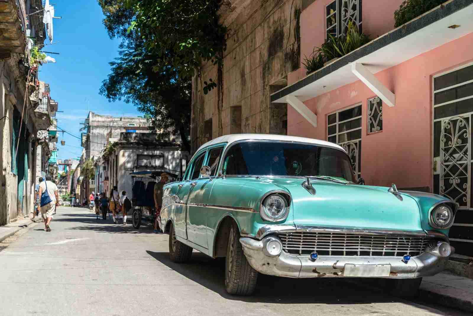Cuba car city streats