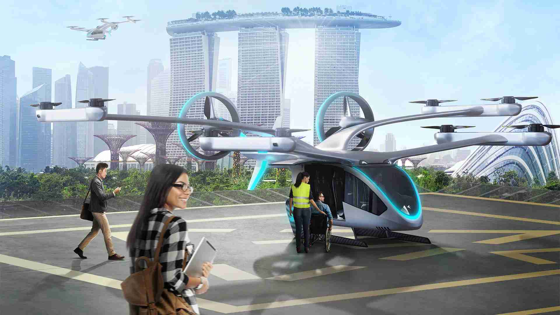 EmbraerX flying vehicle concept