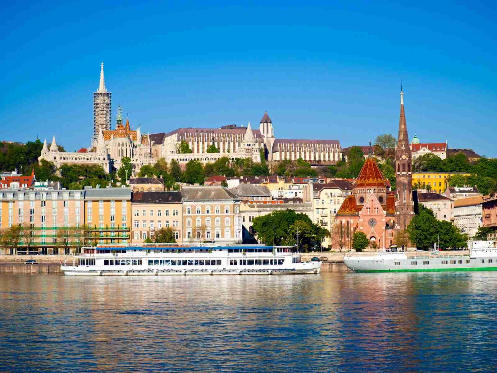 Budapest riverfront daytime danube