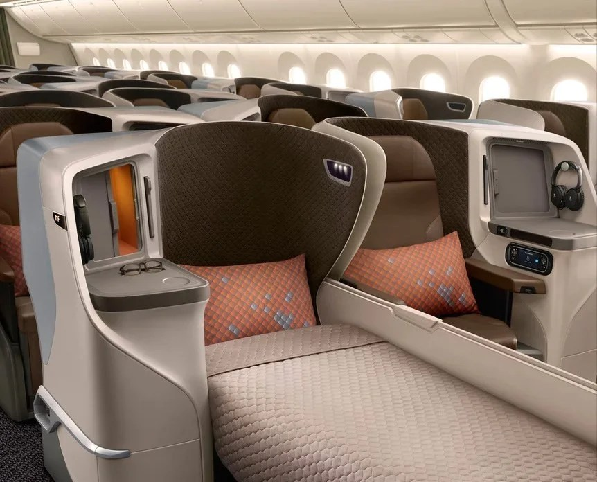 Turkish Airlines New Business Class Seat Rendering as seen on a Singapore Airlines flight