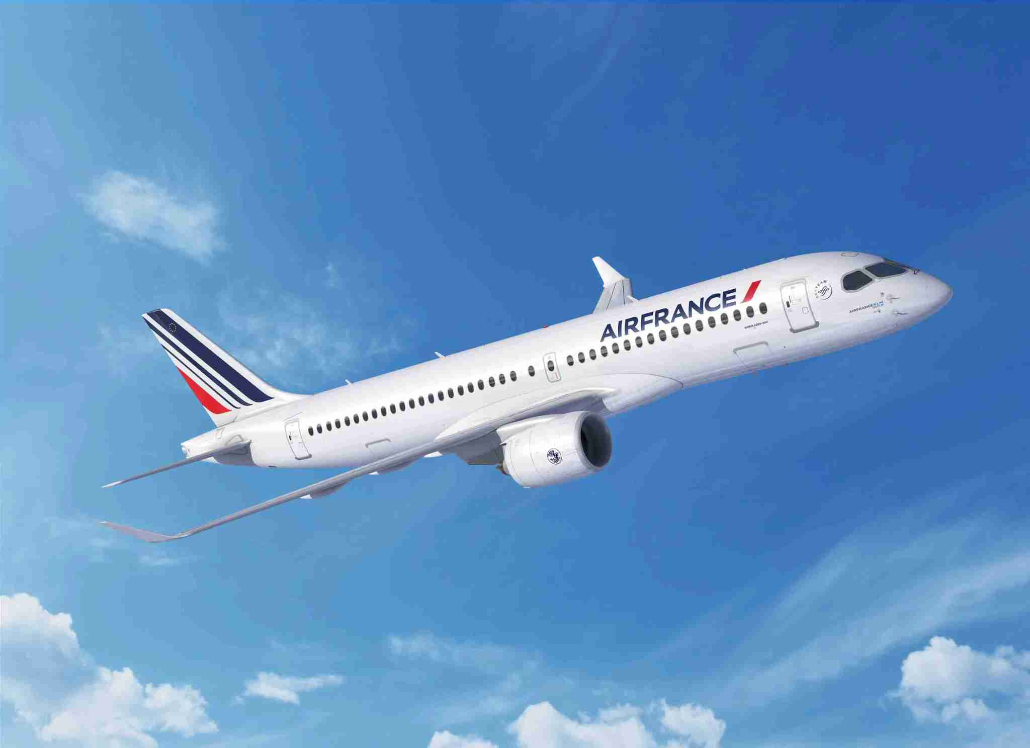 Air France has ordered up to 60 A220-300s. (Courtesy of Airbus)