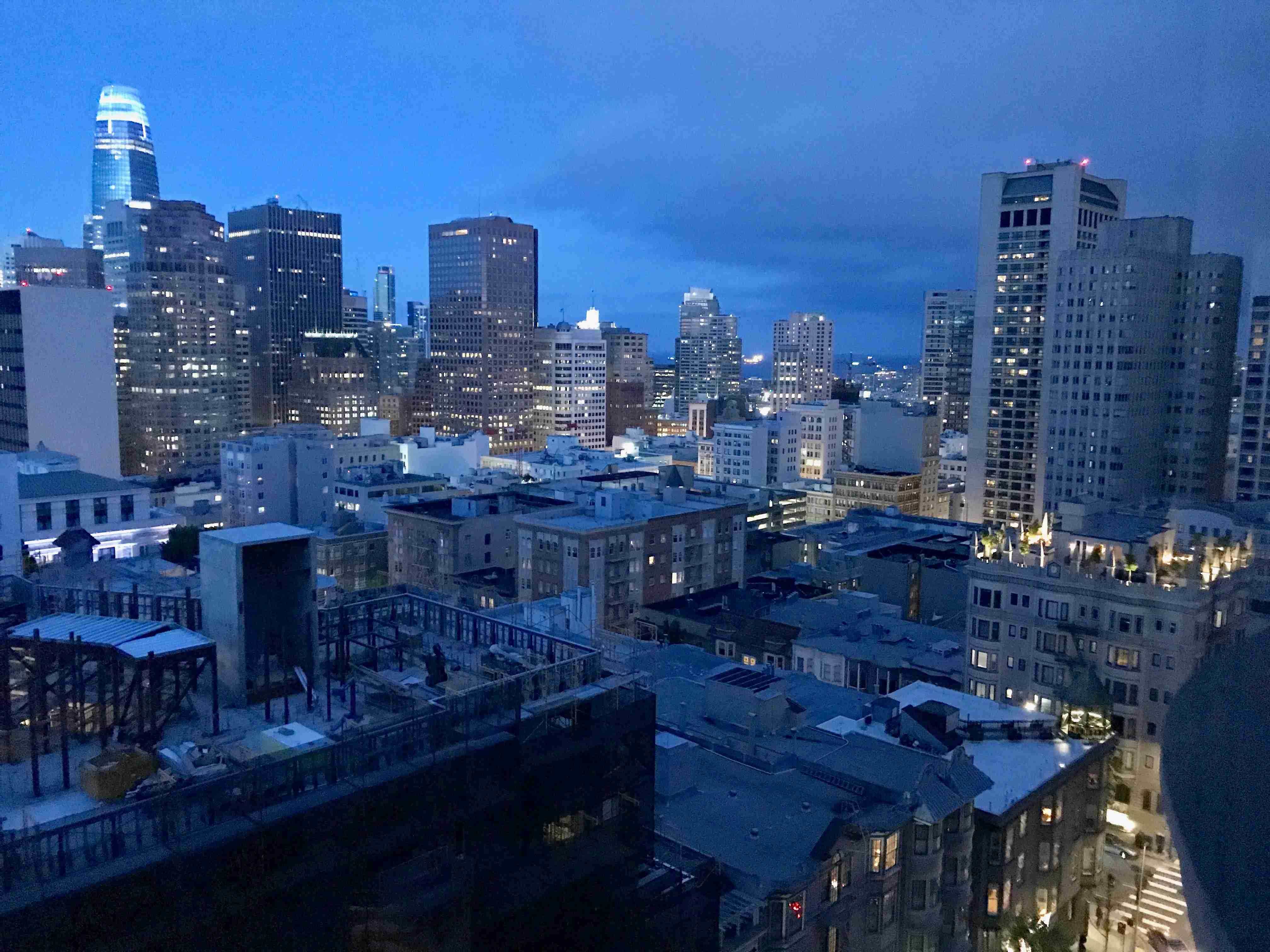 Amazing view from the Stanford Court Hotel atop Nob Hill in San Francisco
