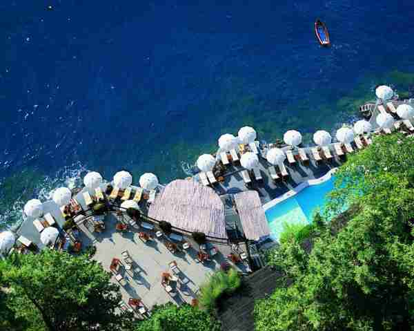 The pool at Hotel Santa Caterina. (Photo courtesy of Leading Hotels of the World.)