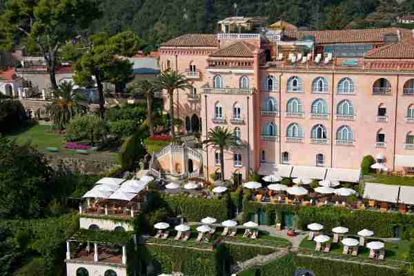 Palazzo Avino sits on a cliff in Ravello, one of the highest towns on the Amalfi Coast. (Photo courtesy of Leading Hotels of the World.)