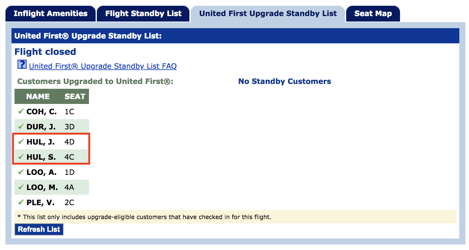 United first class upgrade on award ticket