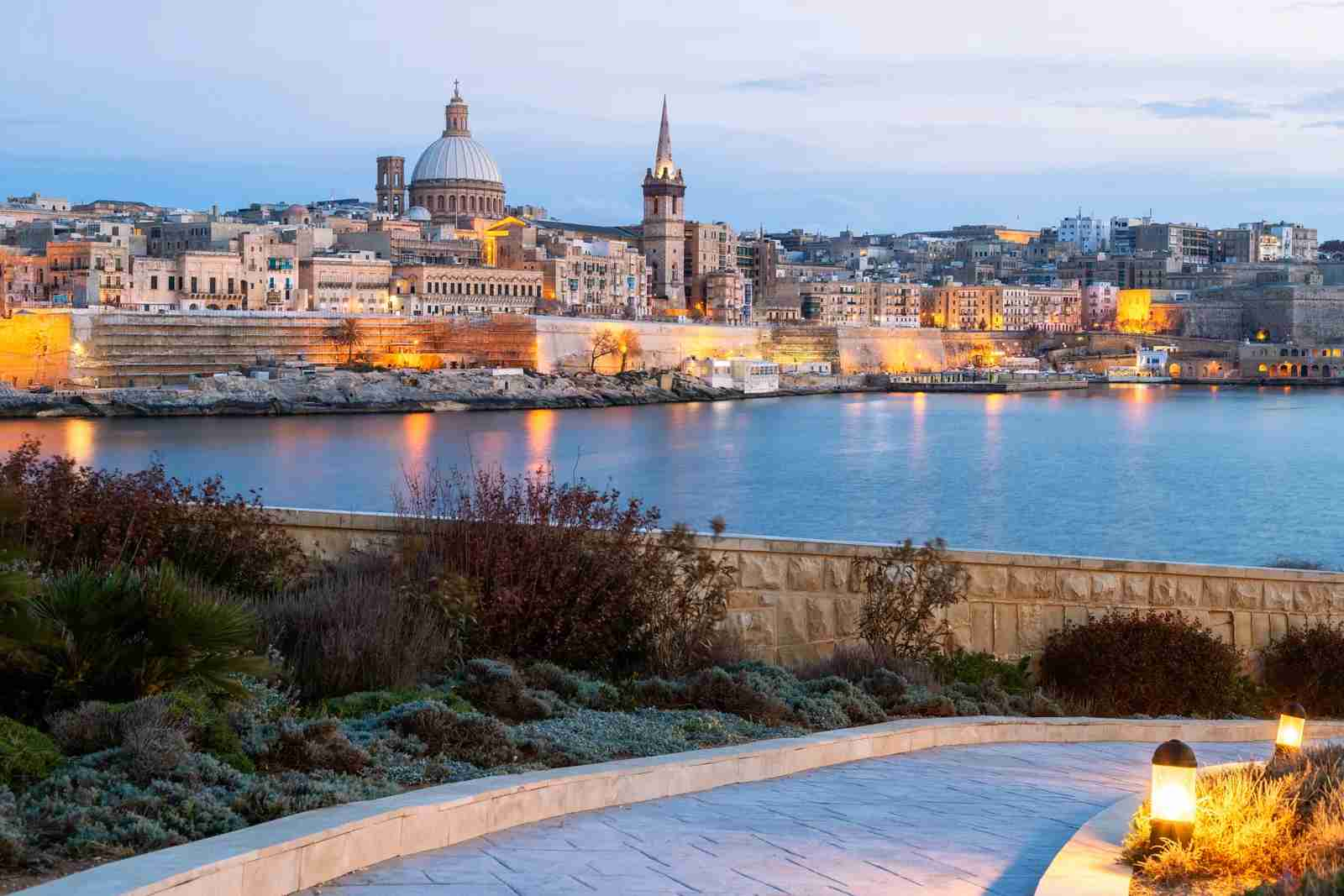 The skyline of Valetta, Malta. (Photo by joe daniel price / Getty Images)