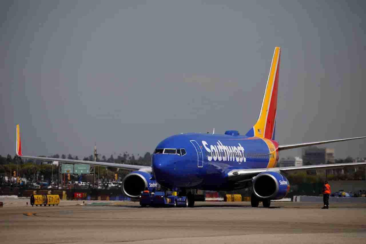 A Southwest Airlines Co. Boeing 737 on the tarmac at Los Angeles International Airport (LAX) on Friday, March 29, 2019 in Los Angeles, Calif. © 2019 Patrick T. Fallon for The Points Guy