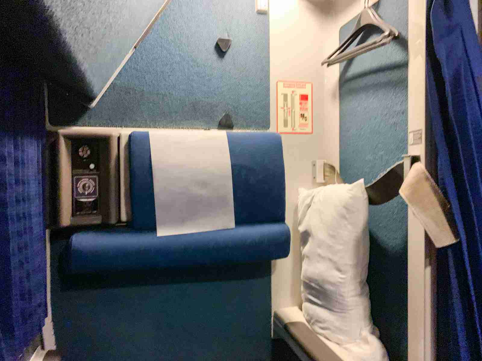 """Storage"" Area In Roomette (Photo by Ed Pizzarello / The Points Guy)"