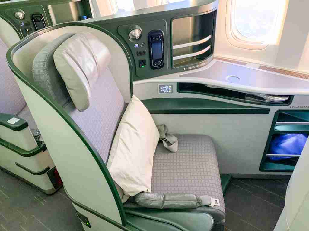 EVA air business class (Photo by Ethan Steinberg / The Points Guy)