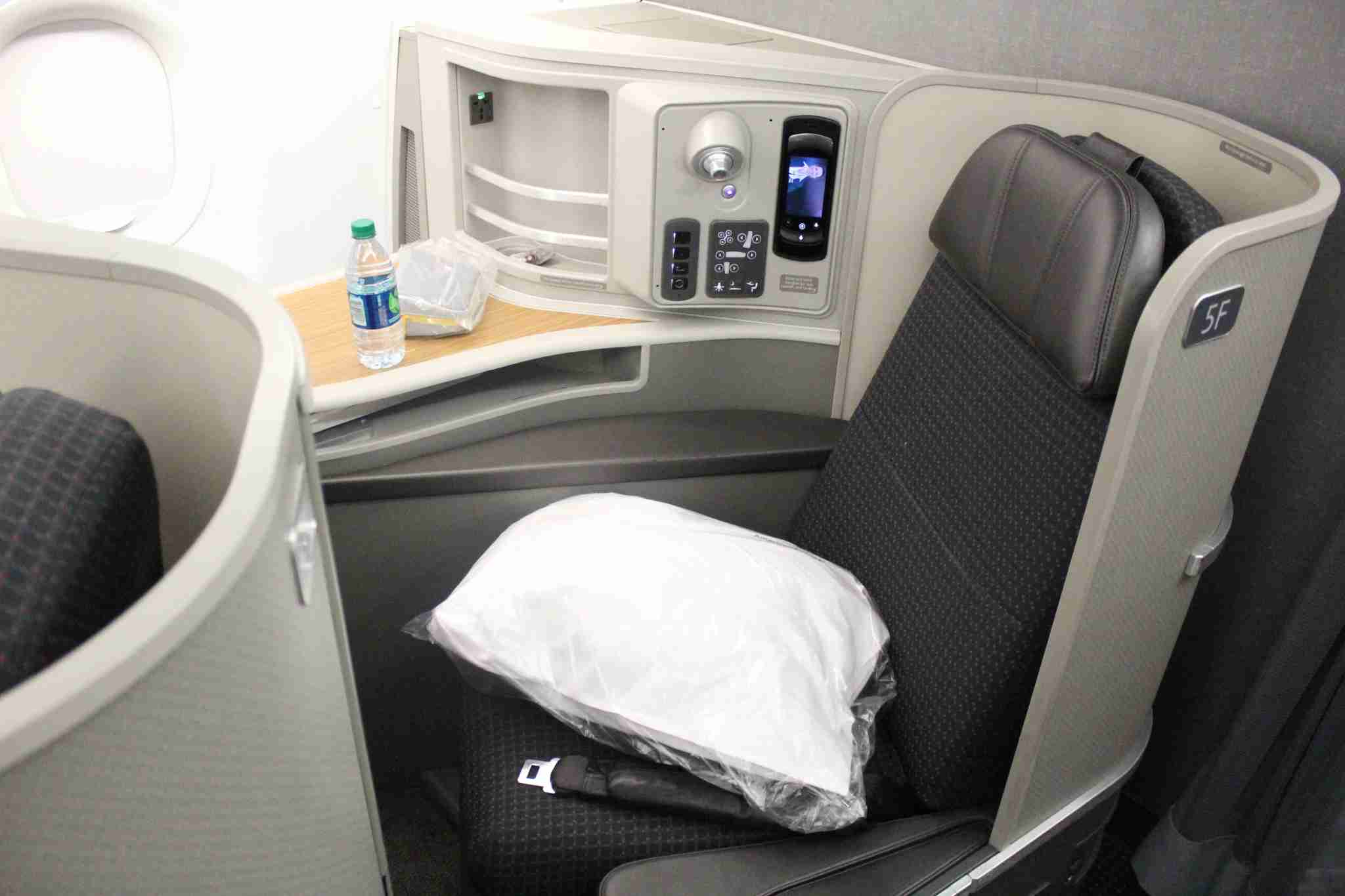 American Airlines Airbus A321T First Class seat. (Image by Max Prosperi/The Points Guy)