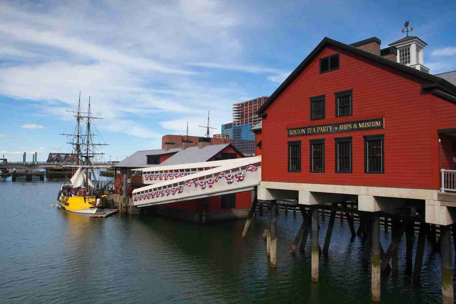 The Boston Tea Party Museum. (Photo by CaptureLight / Getty Images)
