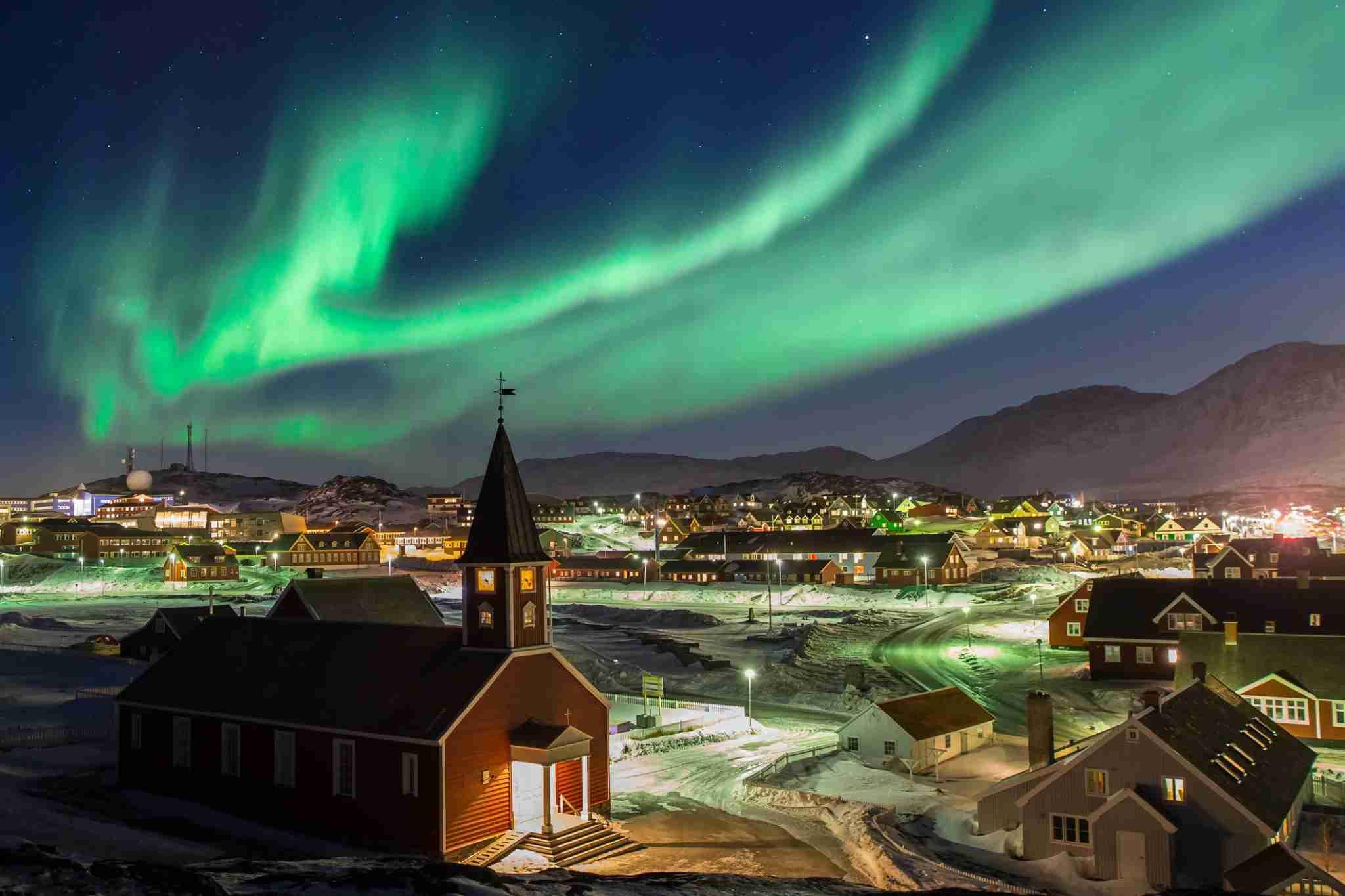 Nuuk, Greenland northern lights