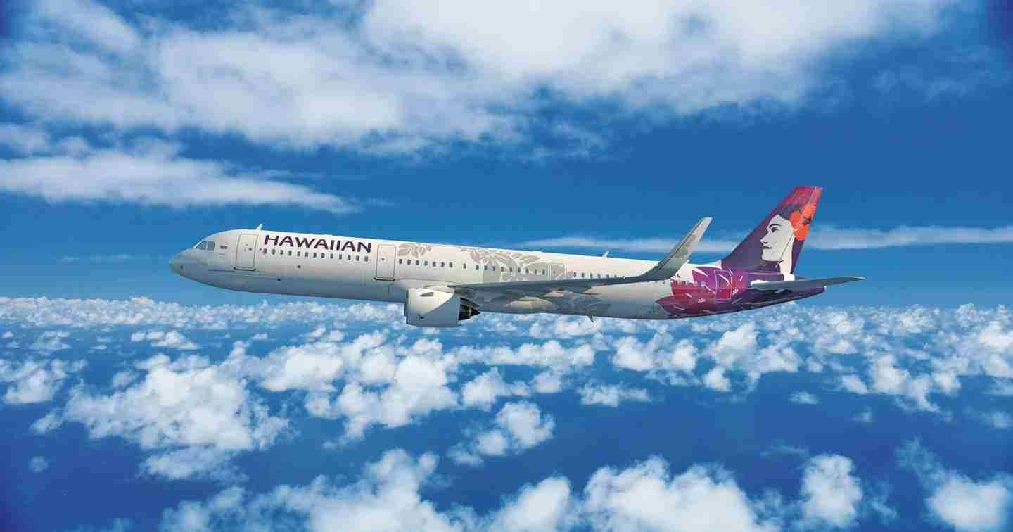 An image of a Hawaiian Airlines Airbus A321neo. (Courtesy of Hawaiian Airlines)