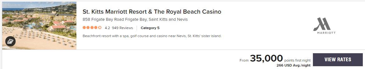 St. Kitts Marriott Resort & The Royal Beach Casino price June 20-27 2020
