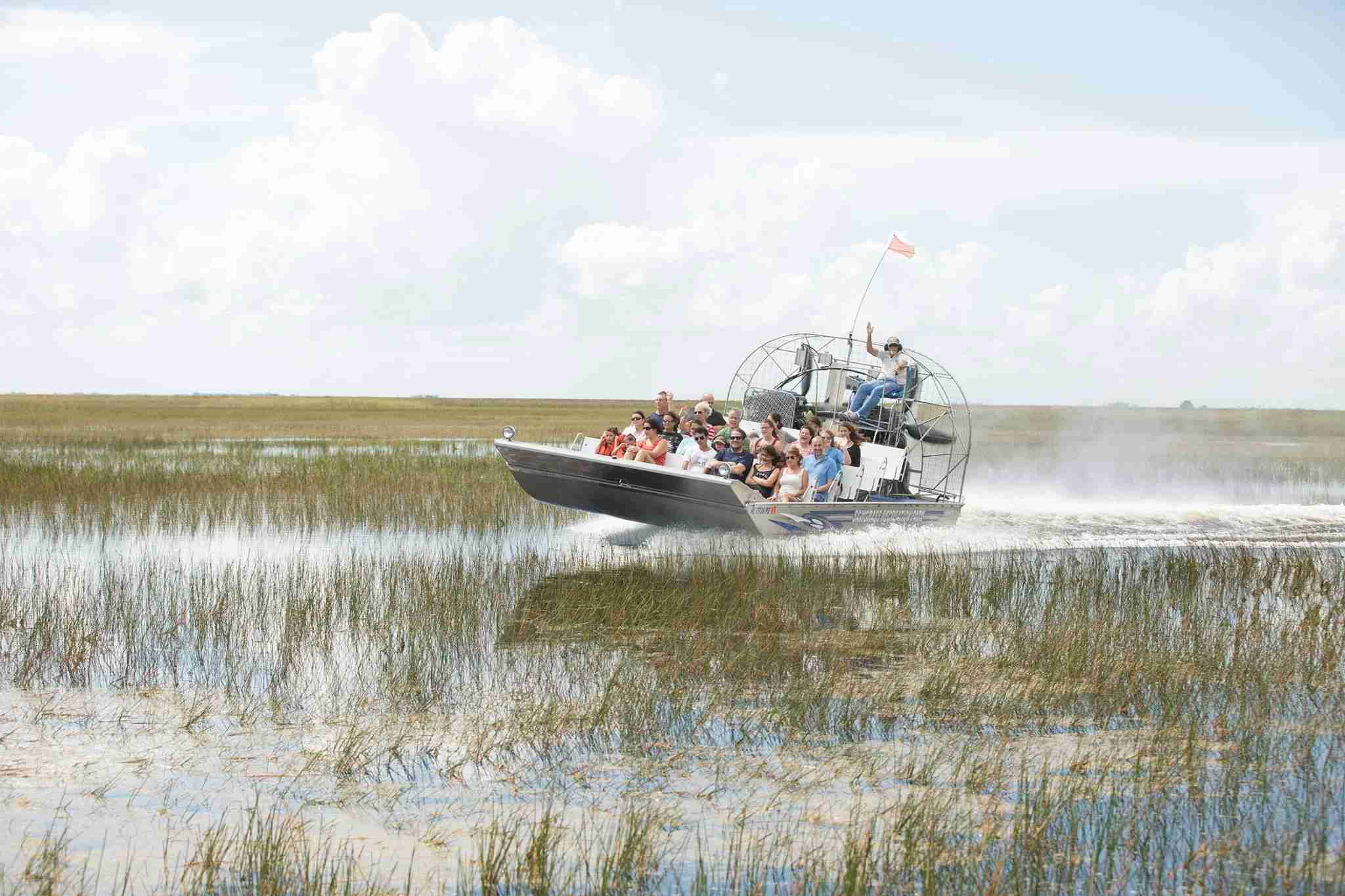Airboat ride at Sawgrass Recreation Park