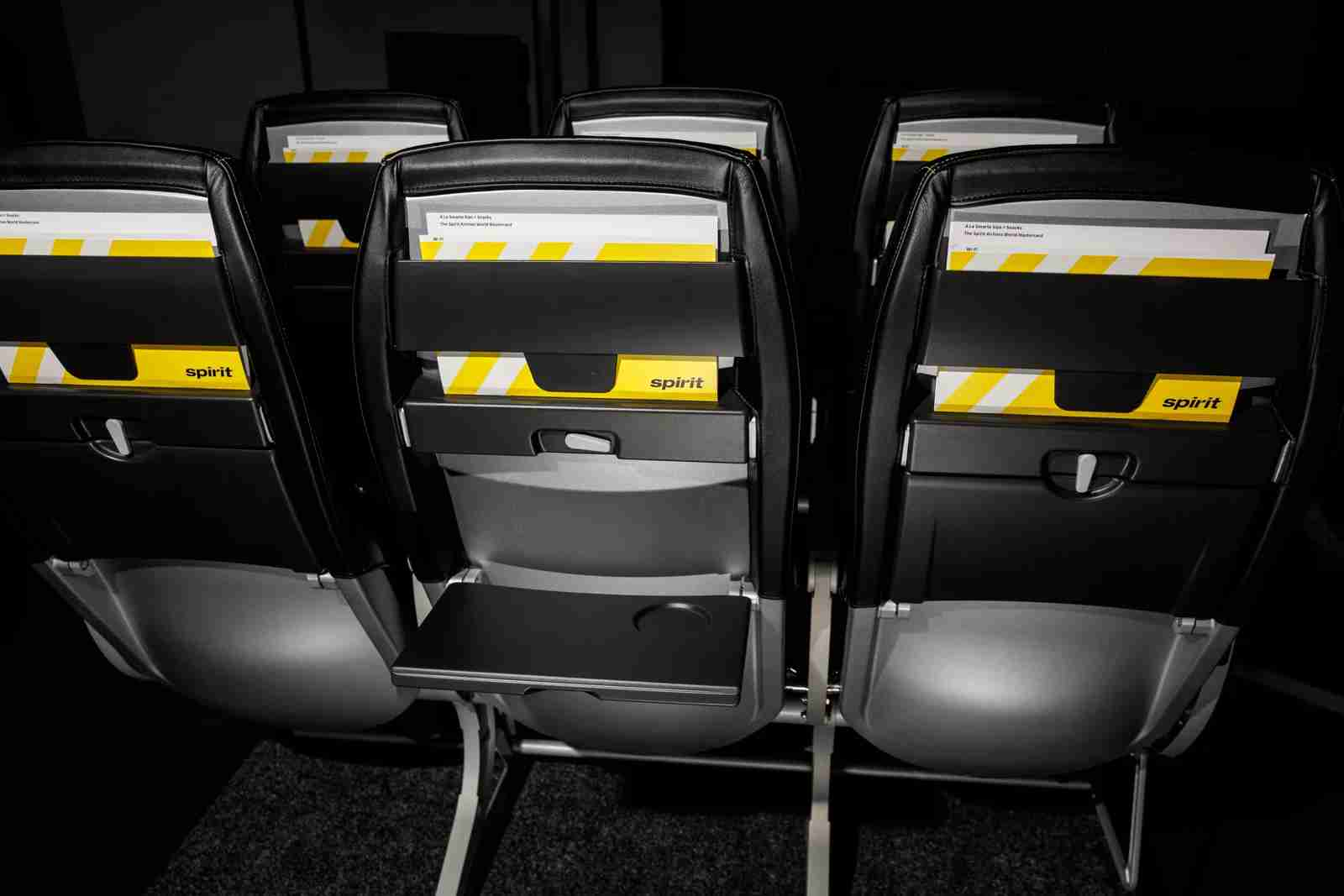 Spirit Airlines showed off its new seats in a demonstration in Los Angeles on Sept. 9, 2019. (Photo by Patrick Fallon/The Points Guy)