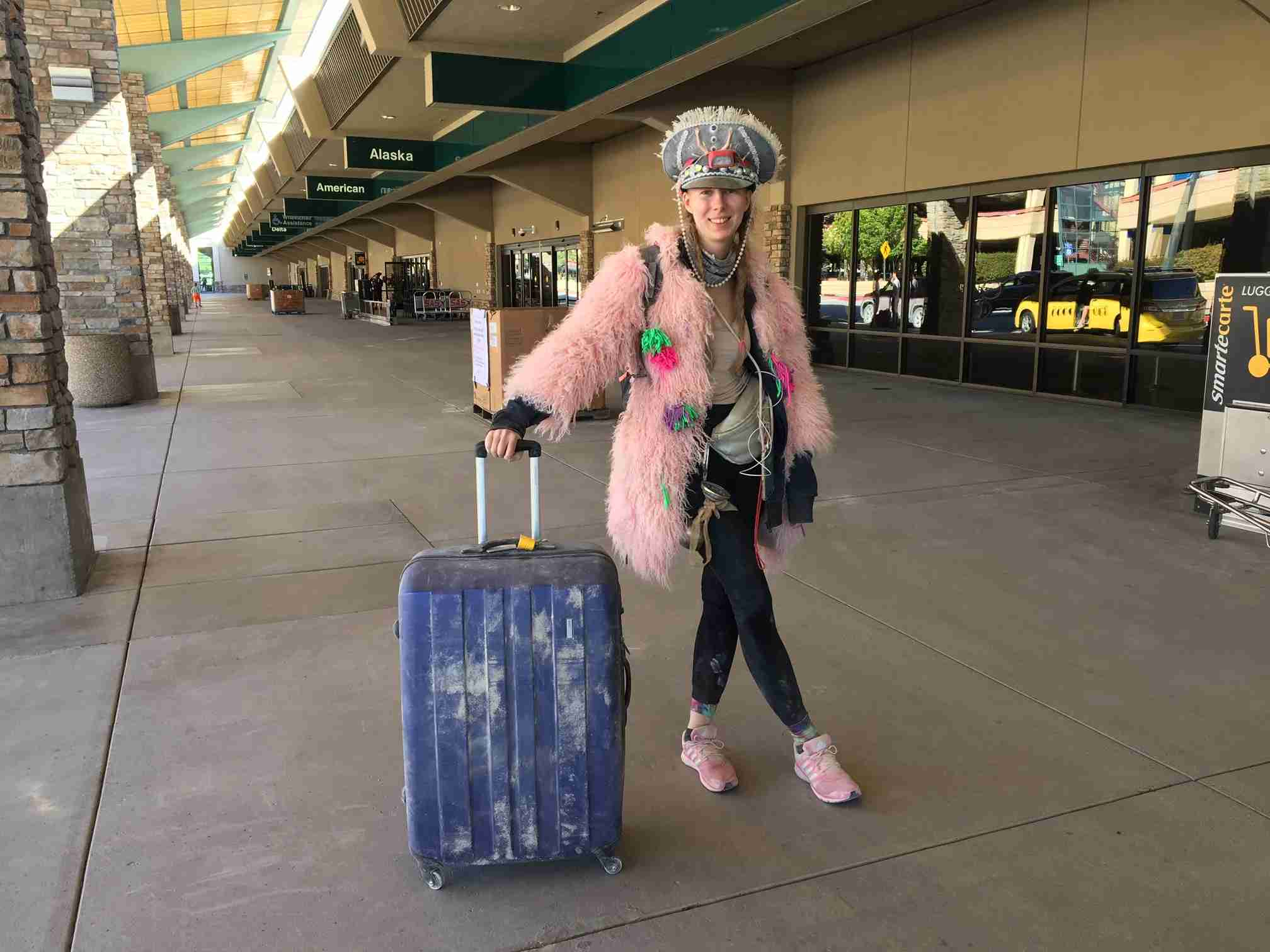 Luliia Kuznetsova, who was on her way to San Francisco to catch a flight back to Berlin, passes through Reno