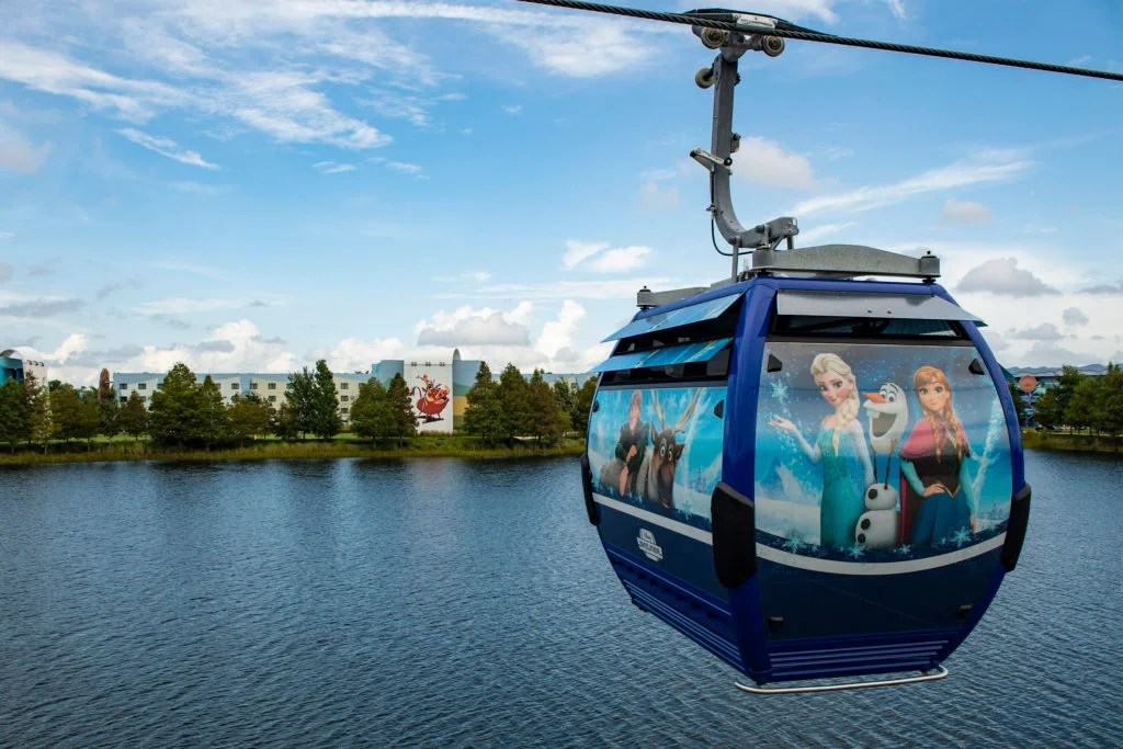Skip the bus ride and fly around Disney World on new Skyliner gondolas