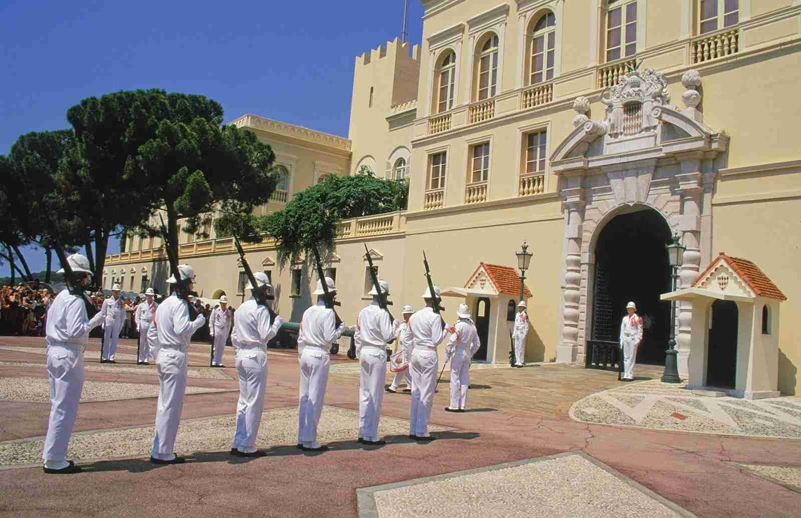 Monaco - Changing of the Guard outside Princes Palace