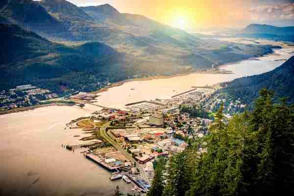 Juneau, Alaska aerial