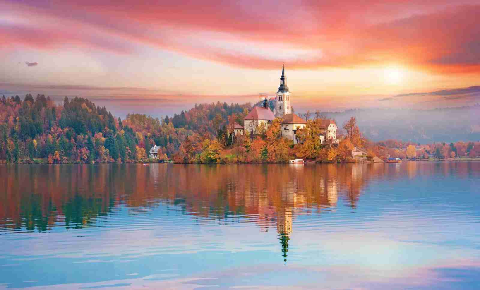 Lake Bled in Slovenia. (Photo by AndrijTer / Getty Images)