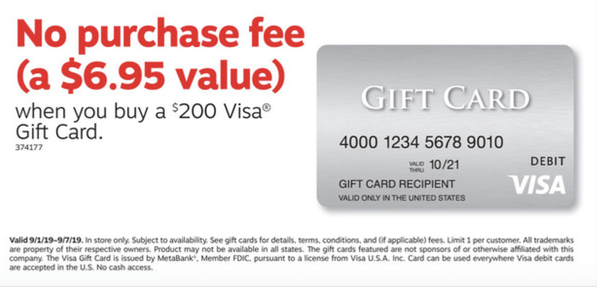 5x Points Fee-Free Visa Gift Cards Now on Sale at Staples