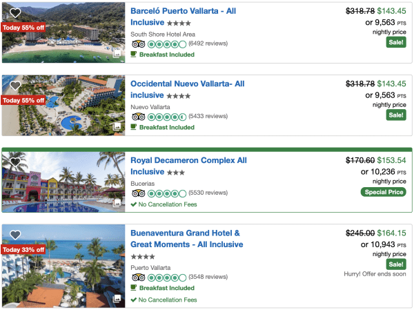 Screen Shot 2019 09 03 at 1.46.16 PM - Don't transfer points: It may be better to book an all-inclusive resort through your credit card portal