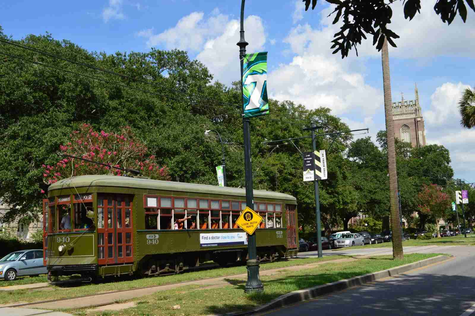 The St. Charles Avenue streetcar. (Photo by JWLouisiana/Getty Images)