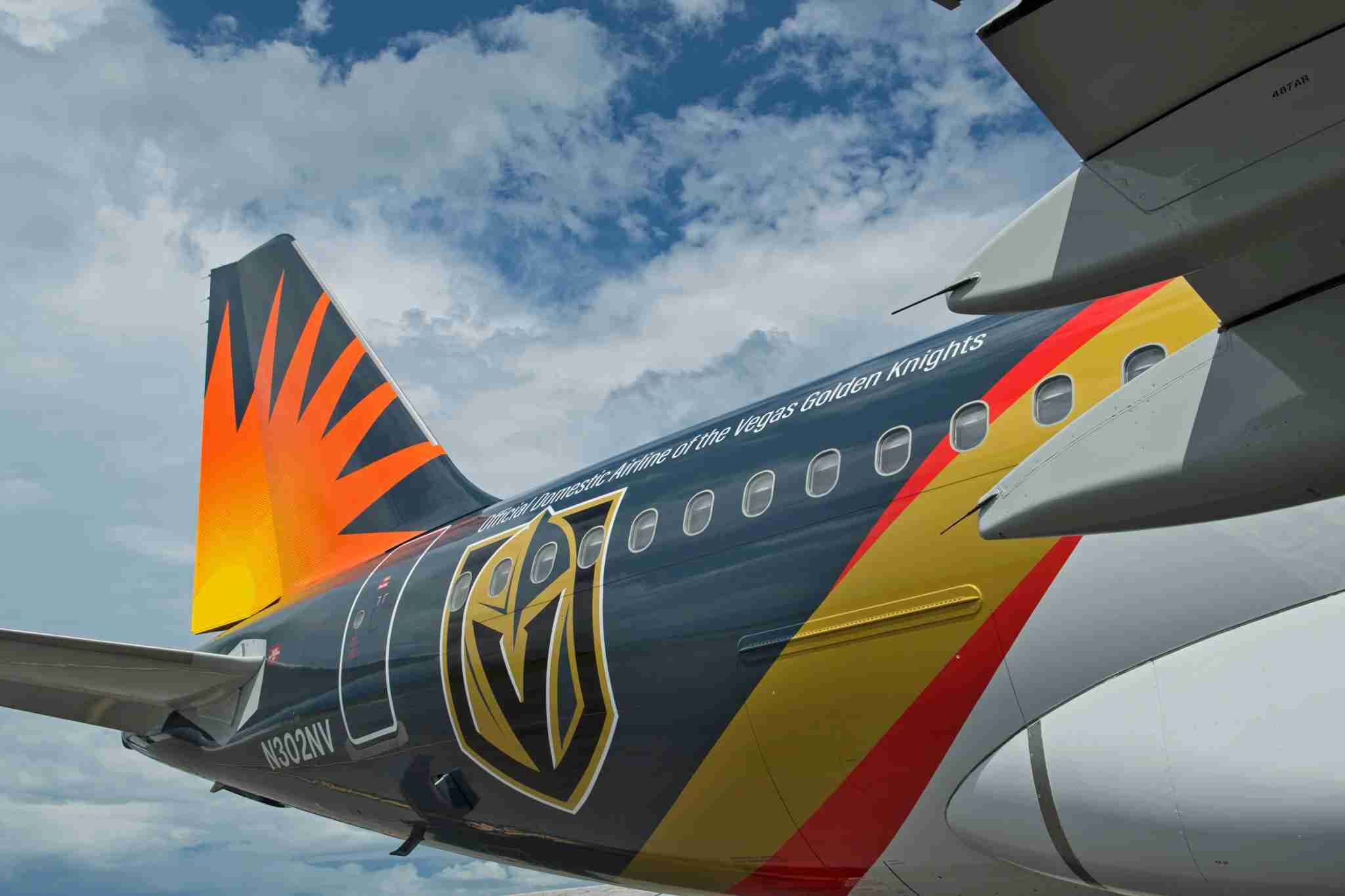 First look at Allegiant's Vegas Golden Knights livery