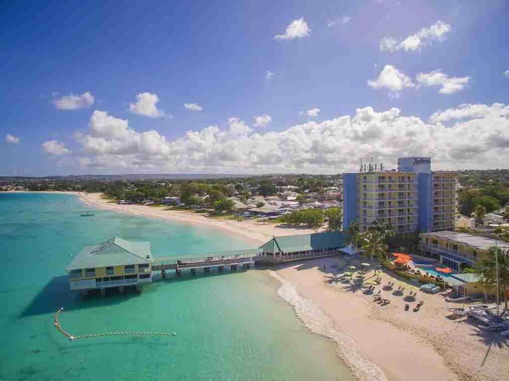 An aerial view of the Radisson Aquatica Resort Barbados (Photo courtesy of Booking.com)
