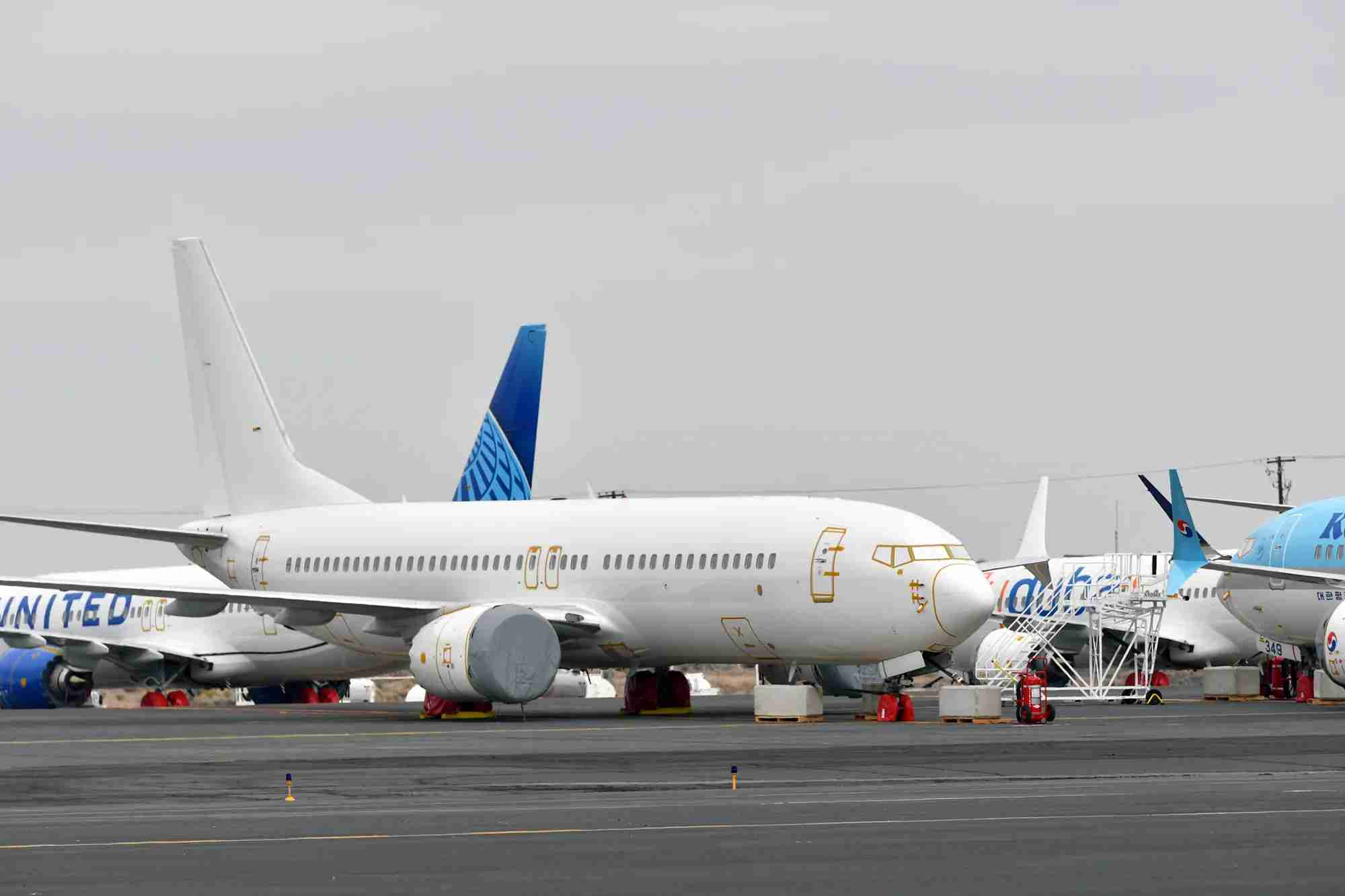 Boeing 737 MAXes grounded in Moses Lake, WA, in October 2019. (Photo by Alberto Riva/TPG)