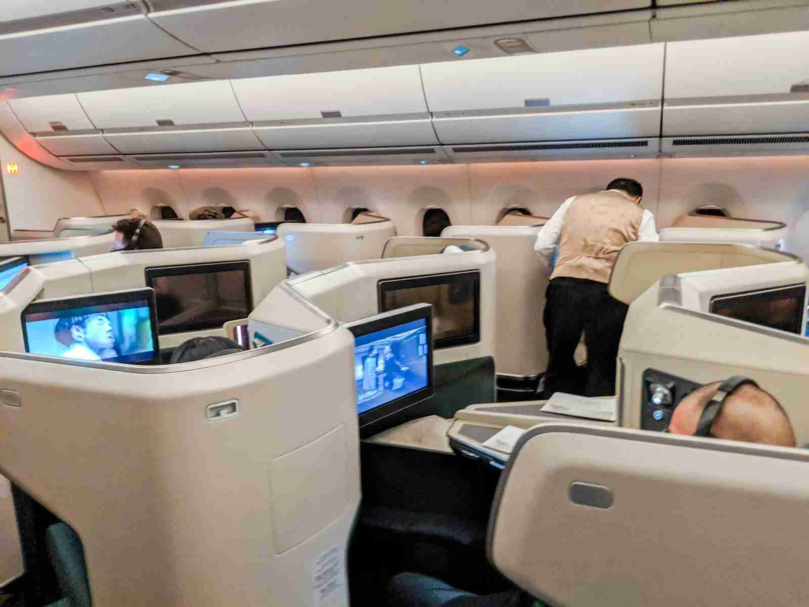 Have you flown in business class on Cathay Pacific yet? (Photo by Wallace Cotton/The Points Guy)