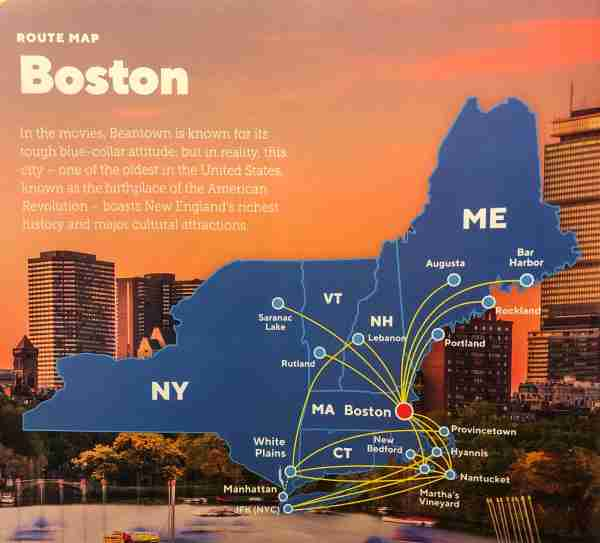 Cape Air's New England route map for Fall 2019. (Image by Airline Maps)