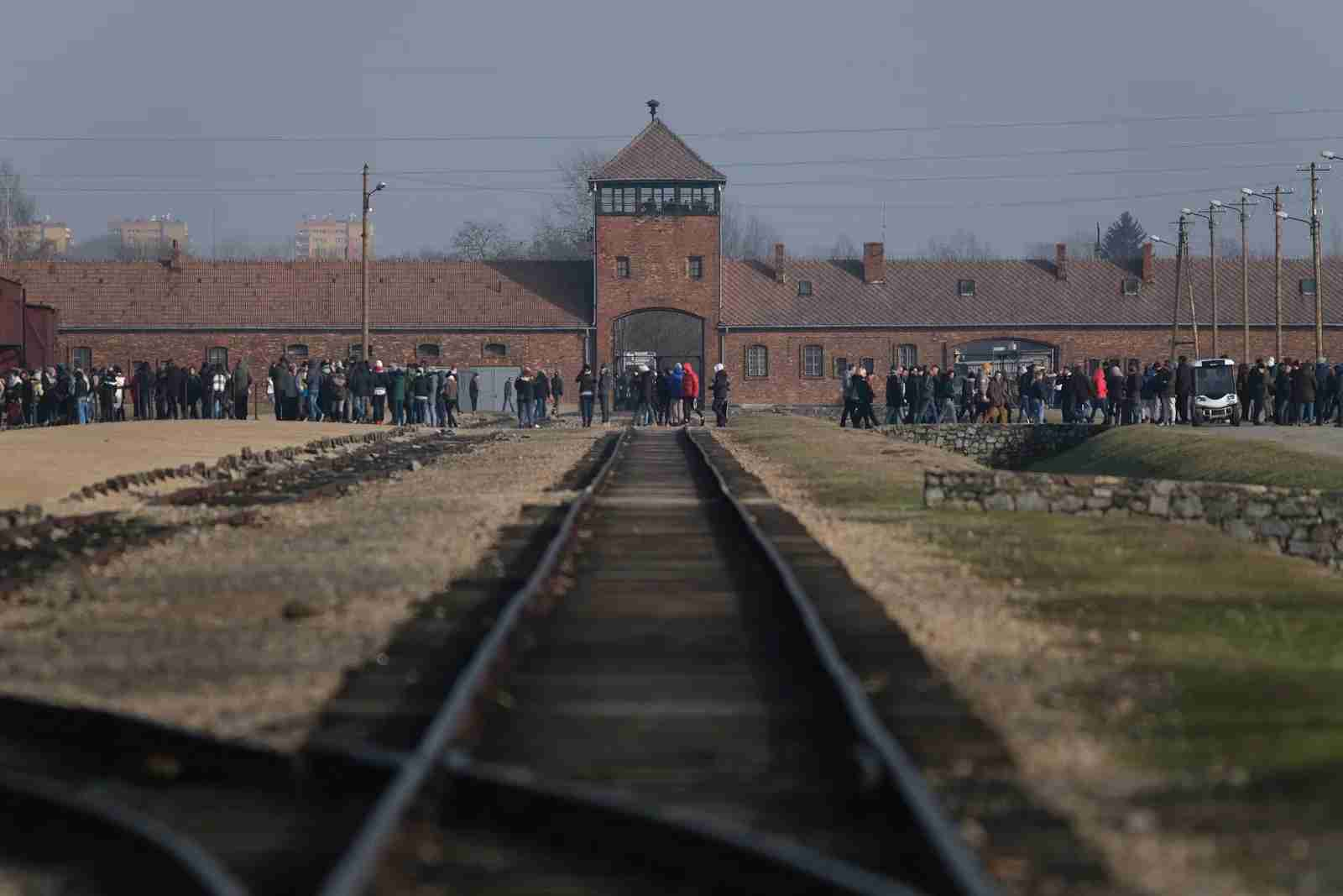The Auschwitz Concentration Camp Memorial. (Photo by Sean Gallup/Getty Images)