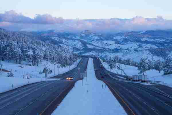 I-70 Highway near Golden, Colorado. (Photo by Lightvision LLC/Getty Images)