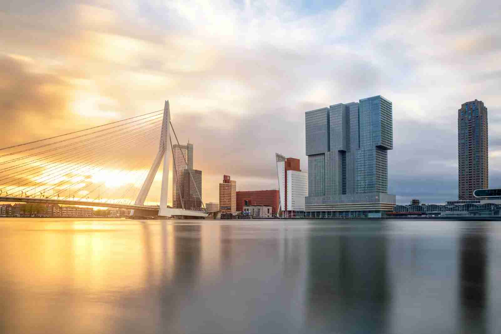 The Rotterdam Skyline. (Photo by Prasit Rodphan/Getty Images)