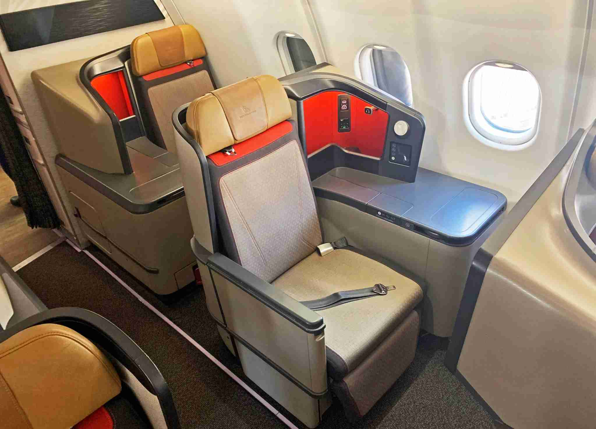 South African Airways A330 business class seat (Photo by Patrick Smith)