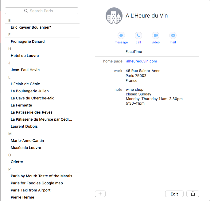 Create a group in your contacts manager and name it for your upcoming trip.