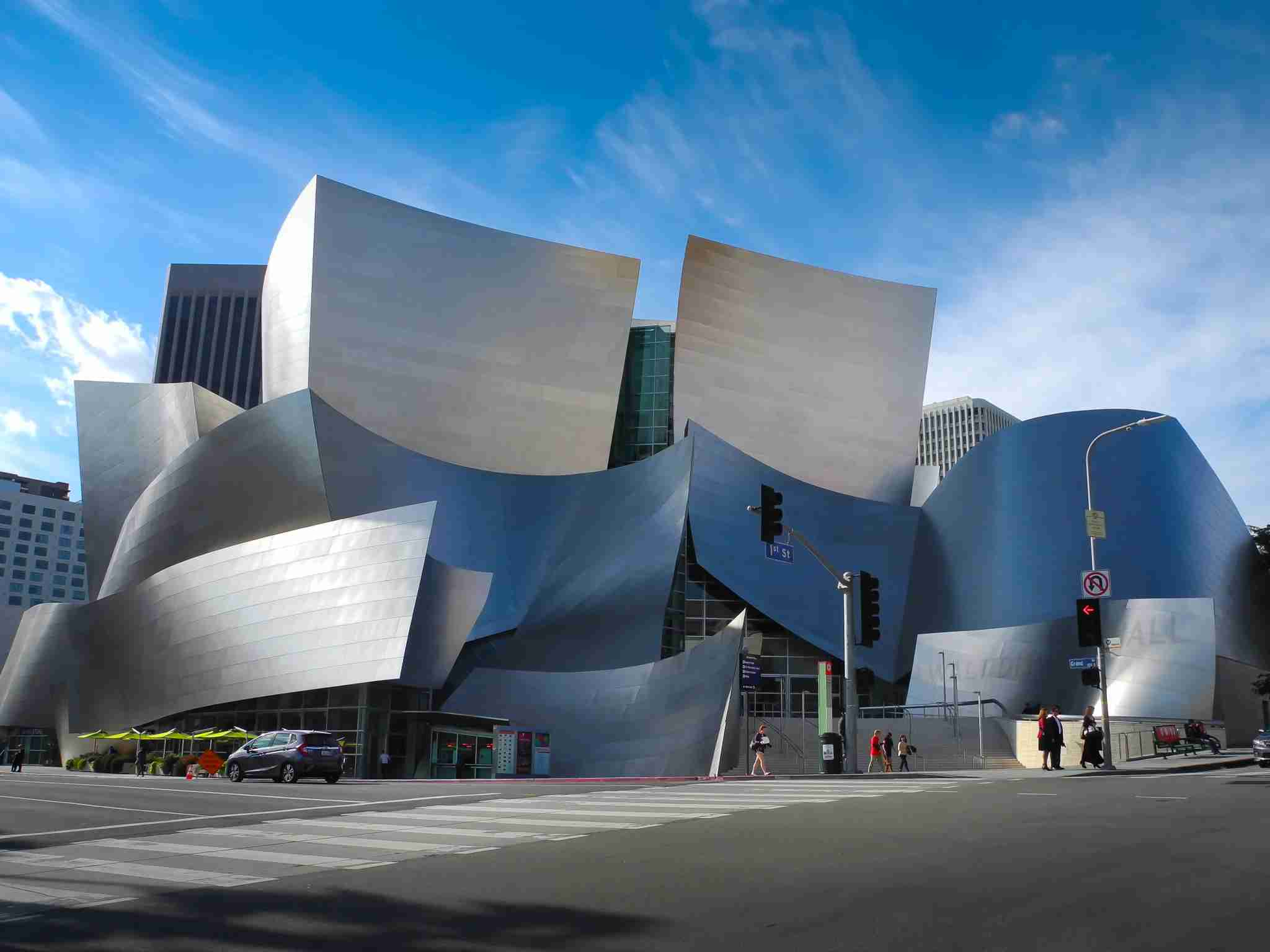 Walt Disney Concert Hall is impressive in photos but even more so in real life. (photo credit: sharadraval)